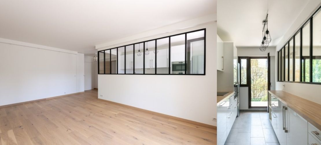 Rénovation totale d'un appartement de 73 m2 à Courbevoie, Ile de france