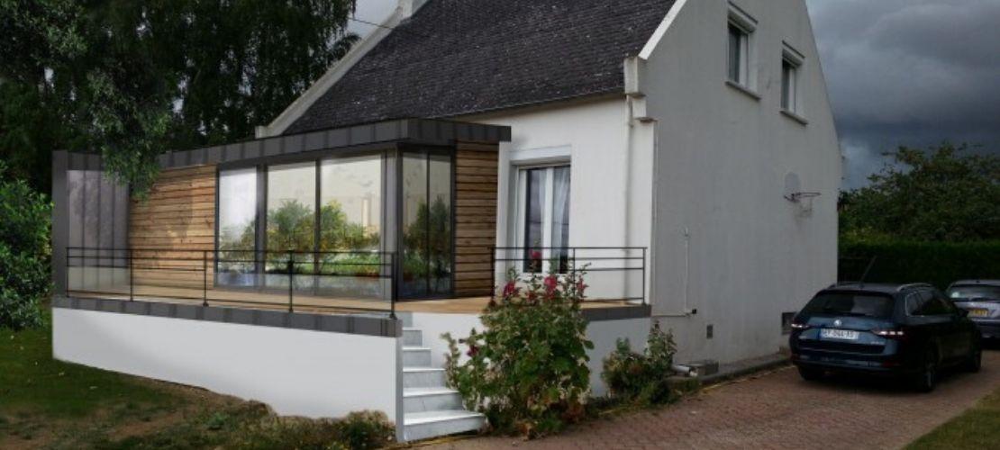 Création d'une extension moderne avec terrasse dans l'Orne
