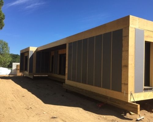 Construction d'une maison en structure bois dans le Var
